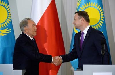Duda i Nazarbajew chcą rozwoju stosunków gospodarczych między Polską a Kazachstanem