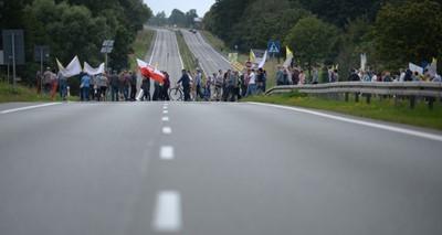 Bez utrudnień na DK nr 7 w okolicach Mławy; mieszkańcy zakończyli protest