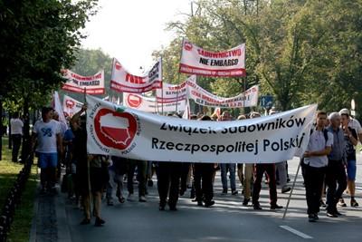 Sadownicy protestują w Warszawie